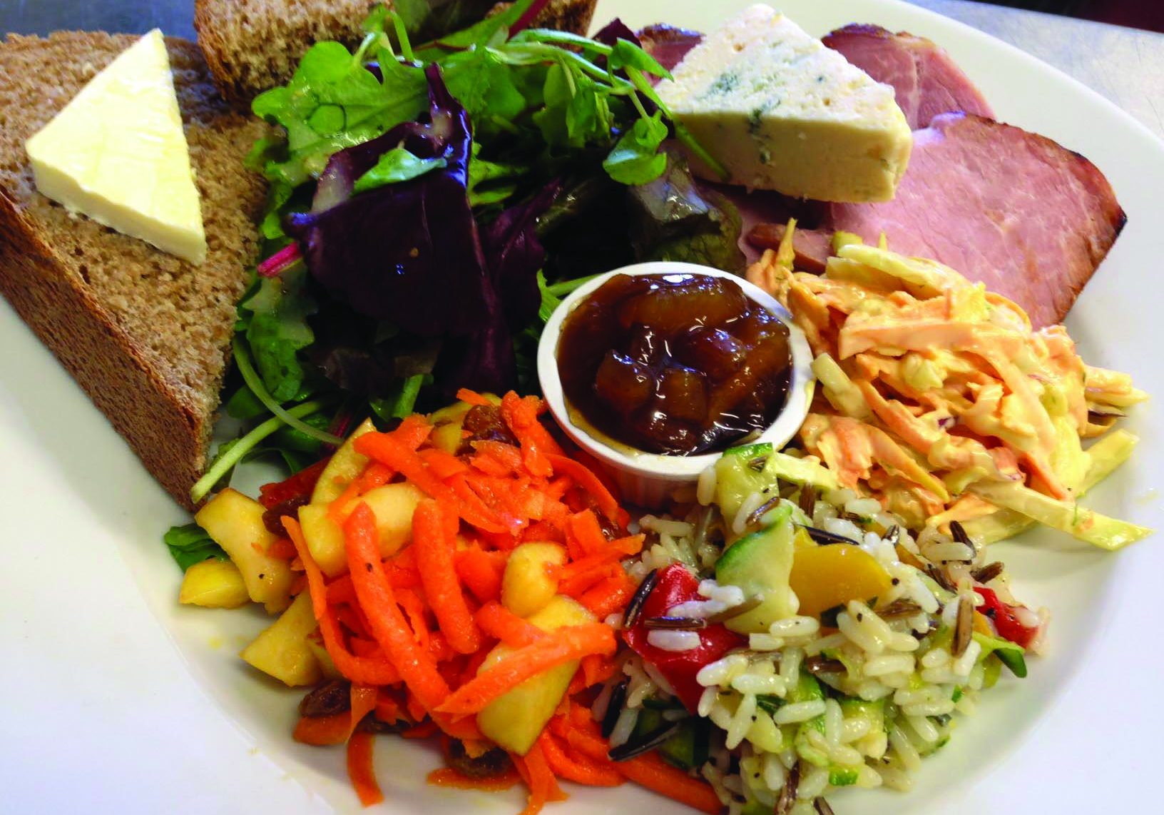 Ham and Blue Cheese Ploughmans